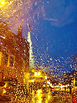 Portsmouth New Hampshire's Market Square as seen through a rainy window. iPhone photo - suitable for print reproduction up to 8&quot; x 12&quot;.