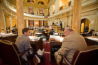 Senate Chamber, in session, at the New Jersey Legislative State House, Trenton, New Jersey