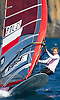 Portugal, Funchal, Madeira :  Bialecha Malgorzata competes on February 24, in 2012 European Windsurfing Championships in the bay of Funchal on the Portuguese archipelago of Madeira.Photo Gregorio Cunha .Campeonato da Europa de windsuf, classe RSX, na baia da cidade do Funchal,  Iha da Madeira, Portugal..Foto Gregorio Cunha