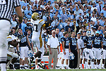 08 November 2008: Georgia Tech's R.B. Clyburn (87) catches the ball. The University of North Carolina Tarheels defeated the Georgia Tech University Yellow Jackets 28-7 at Kenan Stadium in Chapel Hill, NC in an NCAA Division I and Atlantic Coast Conference football game.