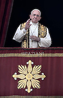 Pope Francis delivers the Urbi et Orbi (to the city and to the world) Christmas Day message from the central balcony of St. Peter's Basilica in Vatican City.December 25, 2014