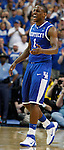 Darius Miller walks off the court at the end of the championship game of the 2011 SEC Men's Basketball Tournament between Kentucky and Florida, played at the Georgia Dome, Sunday, March 13, 2011.  Miller was named SEC Tournament Most Valuable Player and SEC All-Tournament team.  Photo by Latara Appleby | Staff