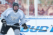 Conor MacPhee (PC - 29) -  - The participating teams in Hockey East's first doubleheader during Frozen Fenway practiced on January 3, 2014 at Fenway Park in Boston, Massachusetts.