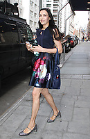 NEW YORK, NY - APRIL 13 :  Famke Janssen spotted leaving 'Good Day New York' to promote 'Blacklist: Redemption' New York, New York on April 13 , 2017.  Photo Credit: Rainmaker Photo/MediaPunch