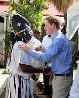 Prince Harry on a three day visit to Barbados, visits the Garrison Museum in Bridgetown, and attends a Children's Garden Party, and watch's a cultural performance by local Barbados performers.