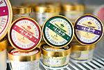 Tea and locally made ice cream on the shelves at Sekka Deli in Hirafu in the Niseko ski region of Hokkaido, Japan on Feb. 7 2010. All of Sekka's produce, which includes cheeses, meats, jams, chutneys teas and ice creams, is made by local Hokkaido producers.