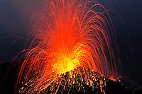 Explosion, Stromboli Volcano, Explosion, Stromboli, Etna, Italy
