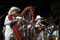 Traditional son jarocho band performing in the Plaza de Aramas, city of Veracruz, Mexico