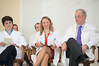 Tania Bertsch, M.D., from left, Christa Zehle, M.D., John Brumsted, M.D. Class of 2016 White Coat Ceremony.