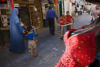 Asie/Israël/Judée/Jérusalem:Scène de rue via Dolorosa à Jérusalem
