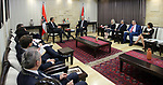 Palestinian Prime Minister Rami Hamdallah meets with Austria's Chancellor Christian Kern, in the West Bank city of Ramallah, on April 23, 2017. Photo by Prime Minister Office