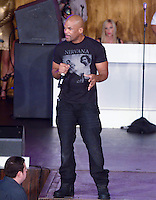 "Darryl ""D.M.C."" McDaniels from Run DMC performs at Miami Dolphins Cheerleaders 2013 Swimsuit Calendar Unveiling Fashion Show at LIV Nightclub in The Fontainebleau Miami Beach Hotel, Miami Beach, FL on August 26, 2012"
