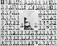 1957 Yale Divinity School Senior Portrait Class Group Photograph