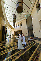 Lobby of Raffles Dubai Hotel (Egyptian themed hotel) Dubai, United Arab Emirates