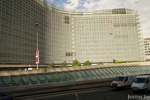 Outside the EU Commission.