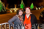 Fidelma Fitzgerald and Sarah Raymond from Boherbee, Tralee at the fireworks on Denny Street on Saturday night
