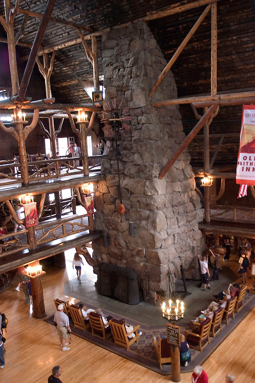 WY: Wyoming, Yellowstone National Park:.At Old Faithful Inn..Photo #: yellow1140..Photo copyright Lee Foster, 510/549-2202, lee@fostertravel.com, www.fostertravel.com..
