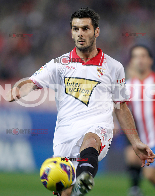 Sevilla's Emir Spahic during La Liga match.November 25,2012. (ALTERPHOTOS/Acero) /NortePhoto