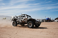 Vanderwey  trophy truck arrives at finish of 2011 San Felipe Baja 250