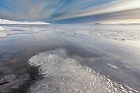 Freeze up along the shore of Barter Island along the Beaufort Sea, arctic, Alaska.