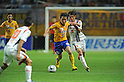 Ryang Yong-Gi (Vegalta), Keigo Higashi (Ardija),JULY 23, 2011 - Football / Soccer :2011 J.League Division 1 match between Vegalta Sendai 0-1 Omiya Ardija at Yurtec Stadium Sendai in Miyagi, Japan. (Photo by AFLO)