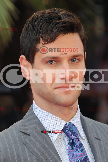 NON EXCLUSIVE PICTURE: PAUL TREADWAY / MATRIXPICTURES.CO.UK.PLEASE CREDIT ALL USES..WORLD RIGHTS..American actor Justin Bartha attending the European premiere of The Hangover Part 3, at the Empire Cinema in Leicester Square, London...MAY 22nd 2013..REF: PTY 133458