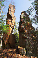 Split rock formation along the Split Rock River. This formation is believed to be the namesake of the river.
