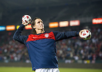 Carson, Ca-January 22, 2010: Zach Loyd throws out mini soccer balls to fans after a 1-1 tie with Chile at the Home Depot Center in Carson, California.