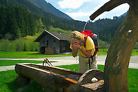 National Park Hohe Tauern, Salzburgerland, Austria, May 2006. Trekking the alms means lots of good mountain life, wallking and good food. Photo by Frits Meyst/Adventure4ever.com