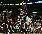 Ole Miss' Reginald Buckner (23) vs. Mississippi State's Renardo Sidney (1) at the C.M. &quot;Tad&quot; Smith Coliseum in Oxford, Miss. on Wednesday, January 18, 2012. (AP Photo/Oxford Eagle, Bruce Newman).