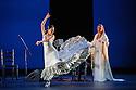 London, UK. 28.02.2016. Sadler's Wells presents Esperanza Fernandez in DE LO JONDO Y VERDADERO, as part of the Flamenco Festival London 2016. Picture shows: Ana Morales, Esperanza Fernandez. Photograph © Jane Hobson.