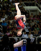 Alexandra Raisman of Brestyan's competes on the beam during 2012 US Olympic Trials Gymnastics Finals at HP Pavilion in San Jose, California on July 1st, 2012.