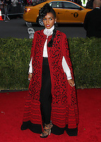 """NEW YORK CITY, NY, USA - MAY 05: Janelle Monae at the """"Charles James: Beyond Fashion"""" Costume Institute Gala held at the Metropolitan Museum of Art on May 5, 2014 in New York City, New York, United States. (Photo by Xavier Collin/Celebrity Monitor)"""