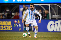 Argentina forward Gonzalo Higuain (9). Argentina and Ecuador played to a 0-0 tie during an international friendly at MetLife Stadium in East Rutherford, NJ, on November 15, 2013.