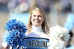 30 November 2013: UNC Cheerleader. The University of North Carolina Tar Heels played the Duke University Blue Devils at Keenan Memorial Stadium in Chapel Hill, NC in a 2013 NCAA Division I Football game. Duke won the game 27-25.