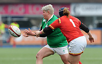 Ireland's Ilse Van Staden in action during todays match<br /> <br /> Photographer Ian Cook/CameraSport<br /> <br /> Women's Six Nations Round 4 - Wales Women v Ireland Women - Saturday 11th March 2017 - Cardiff Arms Park - Cardiff<br /> <br /> World Copyright &copy; 2017 CameraSport. All rights reserved. 43 Linden Ave. Countesthorpe. Leicester. England. LE8 5PG - Tel: +44 (0) 116 277 4147 - admin@camerasport.com - www.camerasport.com