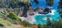 Julia Pfeiffer Burns, State Park, McWay Falls, Panorama, Big Sur, California ,CGI Backgrounds,