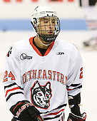 Drew Daniels (Northeastern - 24) - The visiting Niagara University Purple Eagles defeated the Northeastern University Huskies 4-1 on Friday, November 5, 2010, at Matthews Arena in Boston, Massachusetts.