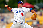 19 March 2006: Jonathan Broxton, pitcher for the Los Angeles Dodgers, on the mound during a Spring Training game against the Washington Nationals at Holeman Stadium, in Vero Beach, Florida. The Dodgers defeated the Nationals 9-1 in Grapefruit League play...Mandatory Photo Credit: Ed Wolfstein Photo..