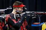COLUMBUS, OH - MARCH 11:  Drew Cheezum, of The Ohio State University, competes during the Division I Rifle Championships held at The French Field House on the Ohio State University campus on March 11, 2017 in Columbus, Ohio. (Photo by Jay LaPrete/NCAA Photos via Getty Images)