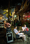 The sidewalk outside Tir Na Nog during the Hopscotch Music Festival in Raleigh, N.C., Sat., Sept. 11, 2010.
