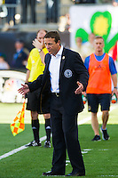 Philadelphia Union manager John Hackworth. The Philadelphia Union and the Seattle Sounders played to a 2-2 tie during a Major League Soccer (MLS) match at PPL Park in Chester, PA, on May 4, 2013.