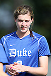 09 September 2011: Duke's Kelly Cobb. The Duke University Blue Devils defeated the Texas A&M Aggies 7-2 at Koskinen Stadium in Durham, North Carolina in an NCAA Division I Women's Soccer game.