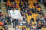 St Johnstone v Dundee United...26.09.15  SPFL   McDiarmid Park, Perth<br /> Dundee United fans make for the exit<br /> Picture by Graeme Hart.<br /> Copyright Perthshire Picture Agency<br /> Tel: 01738 623350  Mobile: 07990 594431