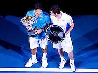 Andy murray fans waych Andy Murray (GBR) (5) against Roger Federer (SUI) (1) in the Final of the Mens Singles. Federer beat Murray 6-3 6-4 7-6..International Tennis - Australian Open Tennis - Sunday 31 Jan 2010 - Melbourne Park - Melbourne - Australia ..© Frey - AMN Images, 1st Floor, Barry House, 20-22 Worple Road, London, SW19 4DH.Tel - +44 20 8947 0100.mfrey@advantagemedianet.com