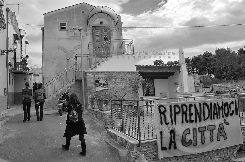 Danisinni neighborood a deprived suburb of Palermo..Danisinni quartiere periferico e degradato di Palermo.