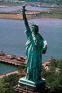 1970's, New York City, New York: Statue of Liberty before renovation.