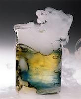 DRY ICE (SOLID CO2) SUBLIMATES &amp; ACIDIFIES WATER<br />