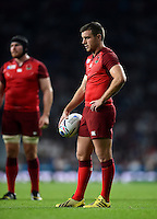 George Ford of England. Rugby World Cup Pool A match between England and Fiji on September 18, 2015 at Twickenham Stadium in London, England. Photo by: Patrick Khachfe / Onside Images