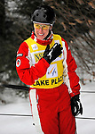 19 January 2008: Jacqui Cooper from Australia smiles as she rides the tow-lift after winning the Qualification Round of the FIS World Cup Freestyle Ladies' Aerial competition at the MacKenzie Ski Jump Complex in Lake Placid, New York, USA. Cooper, the World Cup Leader, finished first in both the Qualification Round and the Finals to take the gold medal...Mandatory Photo Credit: Ed Wolfstein Photo